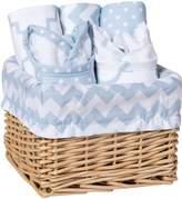 Trend Lab 7-Piece Bib and Burp Feeding Basket Gift Set