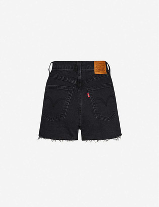 Levi's Ribcage high-rise denim shorts