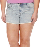 Arizona Raw-Hem Shorts - Juniors Plus