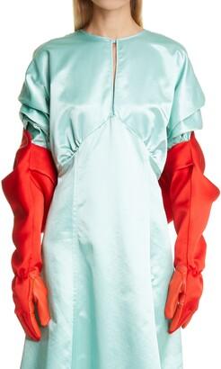 Meryll Rogge Gloved Silk Double Satin Bolero