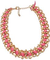 Blu Bijoux Pink Faux Suede Chain Necklace
