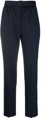 Agnona Belted High-Rise Trousers