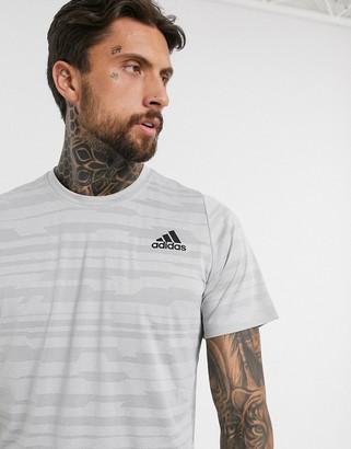 adidas Training t-shirt in grey marl