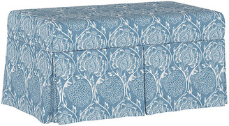 One Kings Lane Hayworth Storage Bench - Floral French Blue