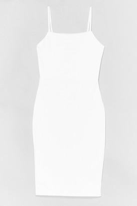 Nasty Gal Womens I'll Take You Square Midi Dress - White