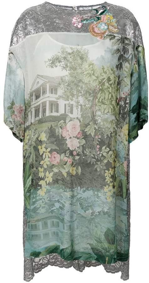 Antonio Marras printed high low mini dress