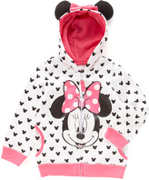 Freeze Minnie Mouse White Dot Eared Hoodie - Toddler & Girls