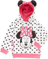 Freeze White Minnie Mouse Eared Hoodie - Girls