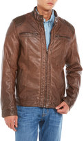 X-Ray Brown Faux Leather Motorcycle Jacket