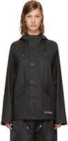 Stutterheim Black Stenhamra Rain Jacket