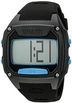 Freestyle Unisex 10025776 Shark Tooth Digital Display Japanese Quartz Black/ Cyan Watch