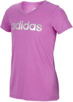 adidas Foil-Graphic ClimaLite V-Neck T-Shirt, Big Girls (7-16)