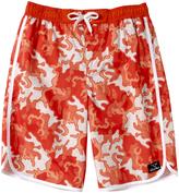 Big Chill Orange Camo Board Shorts - Boys