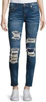 True Religion Halle Mid-Rise Super Skinny Jeans, Indigo