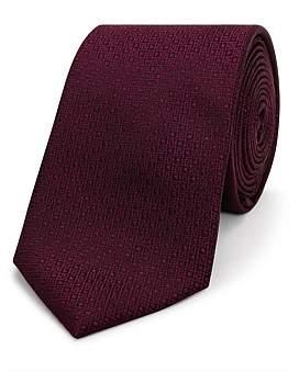 David Jones Textured Plain Sustainable Tie