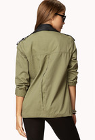 Forever 21 Studded Faux Leather Utility Jacket