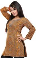 Maple Clothing Indian Kurti Top Tunic Printed Womens Blouse India Clothes (, L)