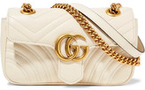 Gucci Gg Marmont Mini Quilted Leather Shoulder Bag - Cream