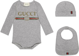 Gucci Baby logo cotton gift set