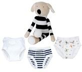 Under the Nile Infant 4-Piece Training Pants & Buddy Stuffed Animal Set