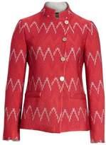 Emporio Armani Flame Stitch Jacquard Jacket