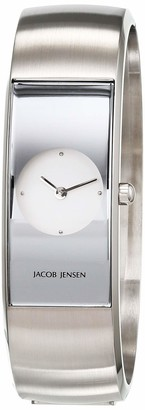 Jacob Jensen Womens Analogue Quartz Watch with Stainless Steel Strap JJ480
