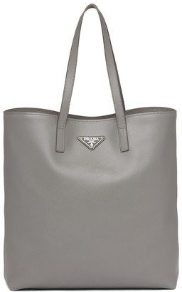 Prada Logo Plaque Tote Bag
