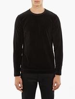 Our Legacy Black Long-Sleeved Velour T-Shirt