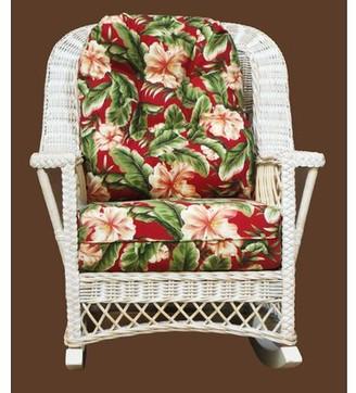 Bay Isle HomeTM Rosado Rocking Chair Bay Isle Home Color: White, Fabric: Glamour Indigo