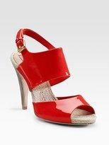 Patent & Raffia Sandals