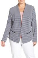 Sejour 'Jetsetter' Ottoman Knit Jacket (Plus Size)