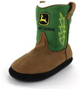 John Deere Boys Green Cowboy Boot Slippers (L/XL (3-5 M US Big Kid))