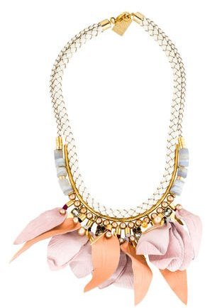 Lizzie Fortunato Woven Petal Collar Necklace
