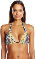 Trina Turk Women's Brasilia Reversible Triangle Slider Bikini Top