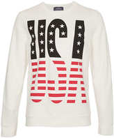 Topman Off White USA Front And Back printed Sweatshirt