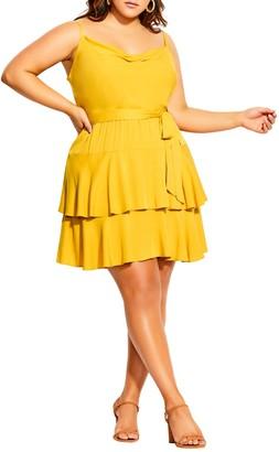 City Chic Mini Frill Dress (Plus Size)