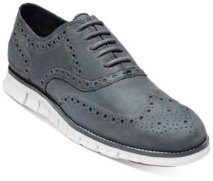 Cole Haan Men's ZERGRAND Suede Wingtip Oxfords Men's Shoes