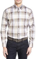 Robert Talbott Men's Anderson Classic Fit Plaid Micro Twill Sport Shirt