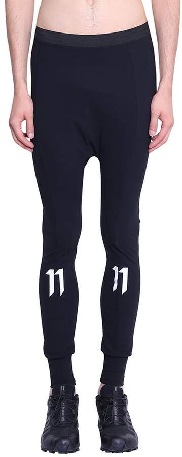 11 By Boris Bidjan Saberi Low Crotch Reflecting Logo Tights