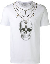 Alexander McQueen skull necklace print T-shirt - men - Cotton - S