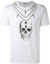 Alexander McQueen skull necklace print T-shirt - men - Cotton - XS