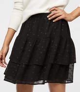 LOFT Shimmer Tile Tiered Skirt