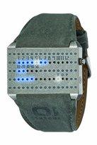 The One Binary – IRSQ1109BW1 – Watch Unisex – Quartz – grey dial – Grey Leather Strap