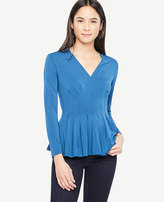 Ann Taylor Pleated Flare Top