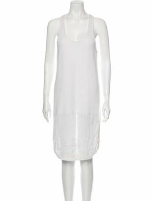 Givenchy Linen Knee-Length Dress White