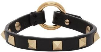 Valentino Black Garavani Thin Rockstud Bracelet