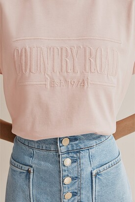 Country Road Verified Australian Cotton Heritage Embroidered T-Shirt