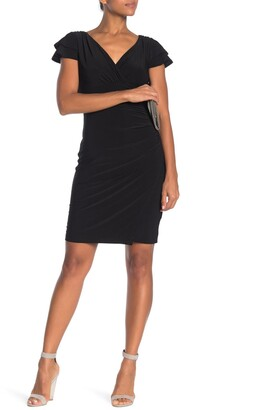Catherine Malandrino Double Layer Sleeve Woven Dress
