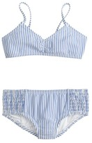J.Crew Girls' bikini set in seersucker