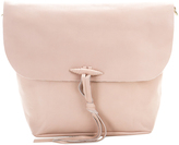 Taupe Toggle Leather Crossbody Bag